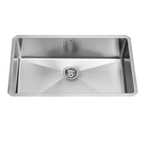 single basin stainless steel undermount kitchen sink shop vigo 32 in x 19 in stainless steel single basin