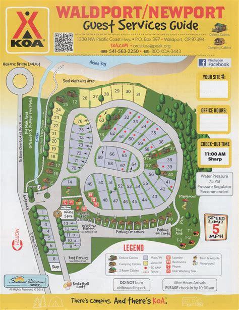 map of oregon rv parks waldport oregon rv cing waldport newport koa