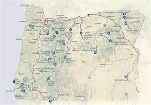 Oregon Rivers Map by Oregon Parks Amp Recreation Department Stewardship Scenic