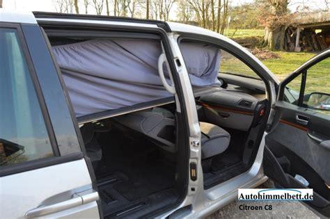 schlafen im auto schlafen im citroen c8 bj 2002 2012 bequem im auto