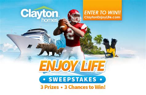 Vacation For Life Sweepstakes - clayton homes launches enjoy life sweepstakes for football fans