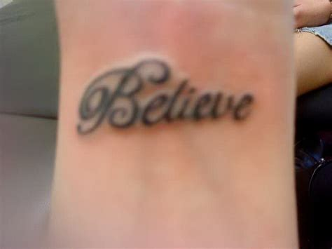 top of wrist tattoo believe wrist tattoos for www pixshark