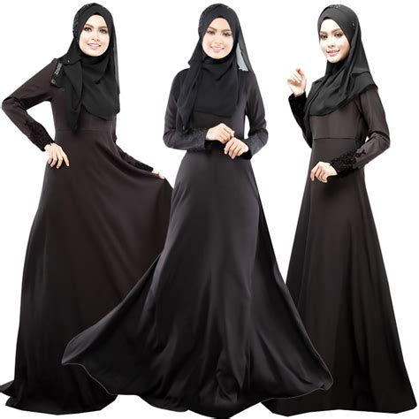 Abaya Ori Saudi Manal sleeved abaya burqa kaftan muslim islamic maxi dress ebay