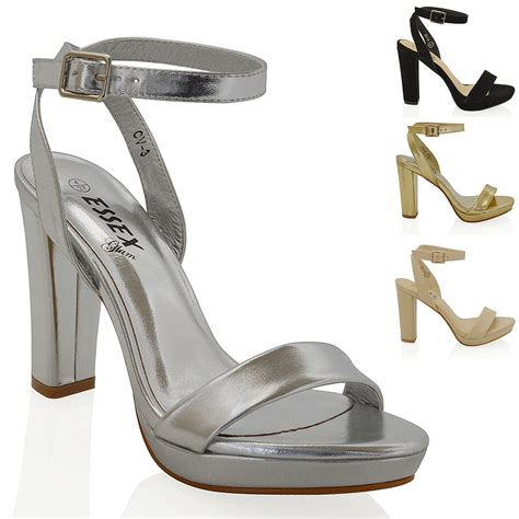 Sandal Faahion Import womens platform block heel ankle tie up strappy sandals shoes ebay