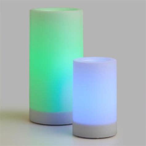 color changing candles color changing flameless led pillar candle world market