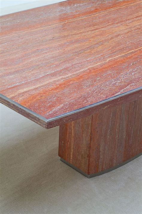 marble and metal dining table marble and metal dining table by willy rizzo 1970s for