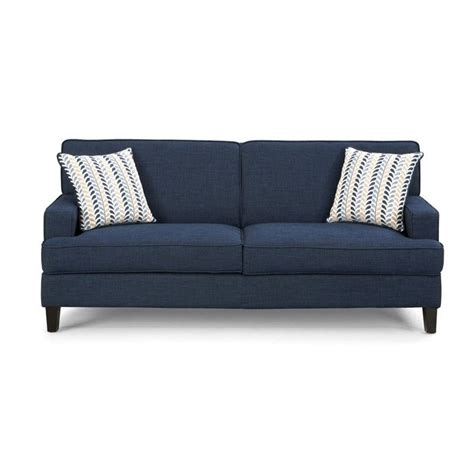 linen loveseat coaster finley linen sofa in blue 504321