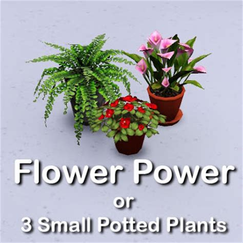 tiny potted plants empire sims 3 3 small potted plants by lisen801