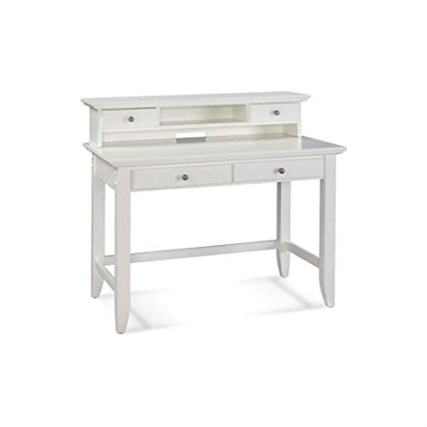 Student Table Writing Desk Hard Wood W Shelf Drawers Room White Writing Desk With Drawers