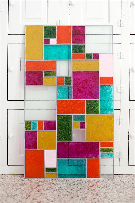 Color Panel Glasses diy faux stained glass a beautiful mess