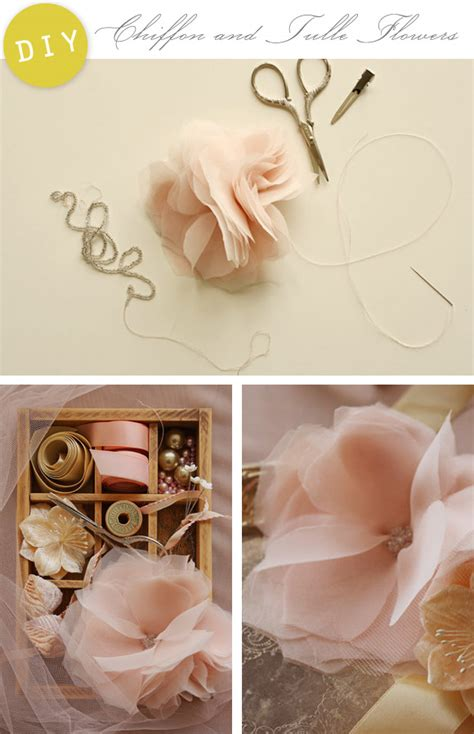 diy tulle flowers diy chiffon and tulle flowers home creature comforts daily inspiration style diy
