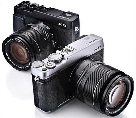 Kamera Fujifilm Vintage fujifilm x e1 kamera mirrorless keren bergaya retro belajar fotografi