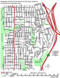 San Diego Street Map by Street Maps Of Central San Diego