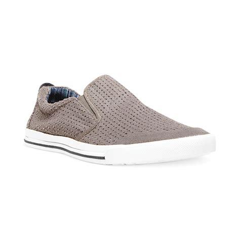 steve madden slip on sneakers steve madden madden omitt slip on sneakers in gray for