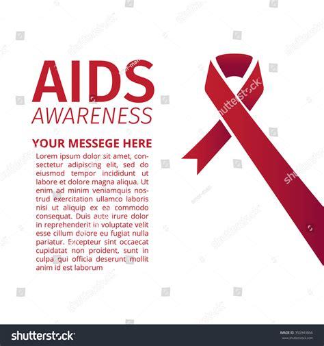 aids template aids awareness ribbon design template stock vector