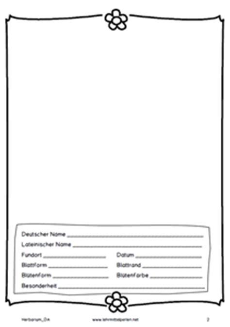 Vorlage Herbarium Word Lehrmittel Perlen Materialien F 252 R Die Grundschule Und Lehrer Gemeinschaft