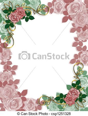 Wedding Invitation Border Eps by Wedding Invitation Border Roses Illustration Composition