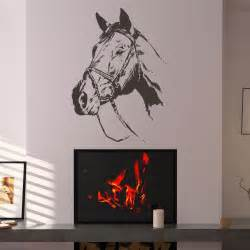 wall art uk stickers horse headoutline portrait wall art stickers wall decals