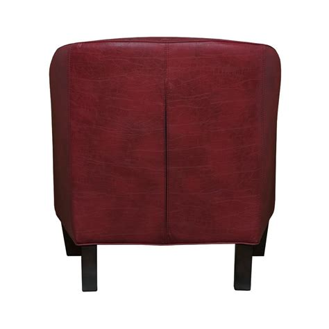 Leather Barrel Chair by Graftonhome Grace Bonded Leather Barrel Chair