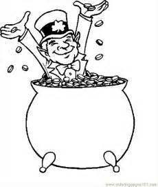 coloring pages leprechaun with gold 1 holidays gt st