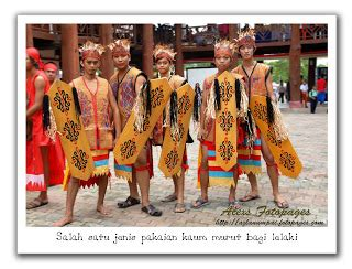 Batu Akik Gambar Orang Menari pakaiana tradisional sabah suku kaum murut