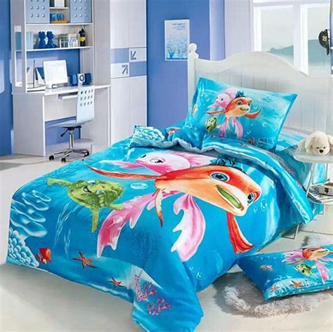 twin size bed in a bag ocean kids girls cartoon bedding comforter set twin size