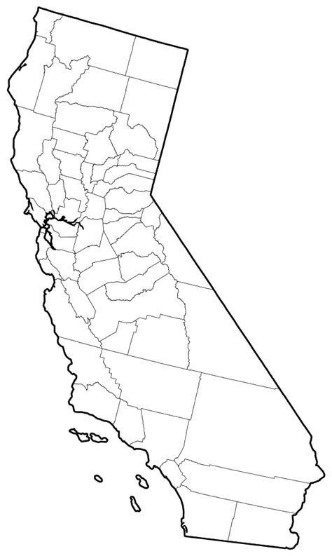 California County Map Outline With Cities by File California Counties Outline Map Svg Wikimedia Commons