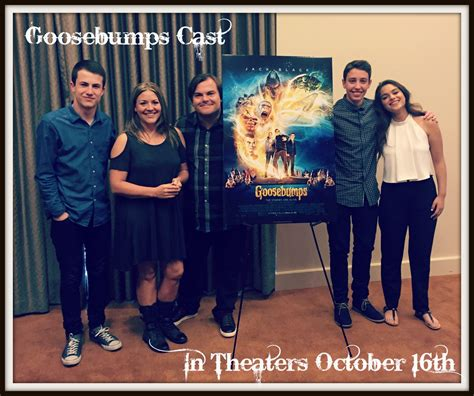 Cast And by Sitting With The Cast Of Goosebumps