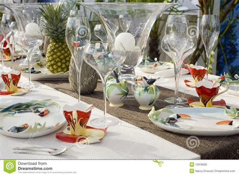 contemporary setting modern dining table setting stock photo image 15918090