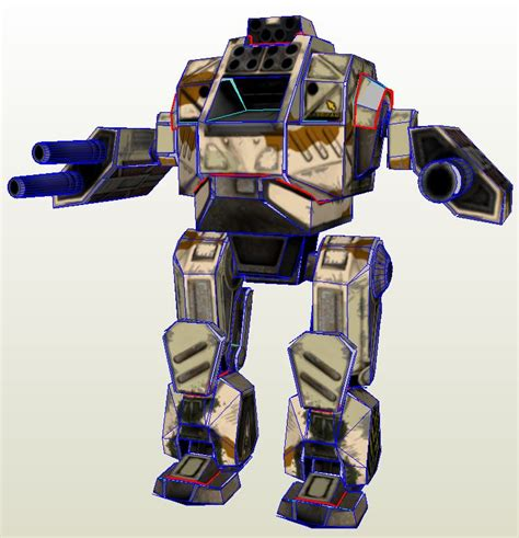 Mechwarrior Papercraft - mwo forums so you want to build a paper mech page 4