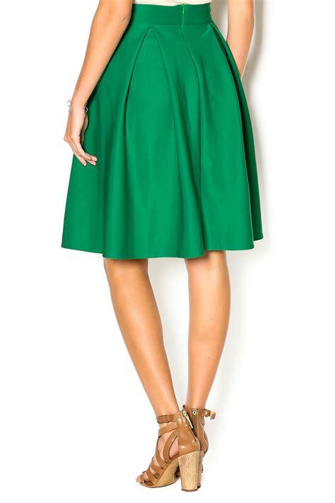 high waisted knee length skirt brown hairs