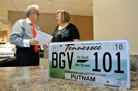 Putnam County Clerk S Office in god we trust plates now available herald citizen