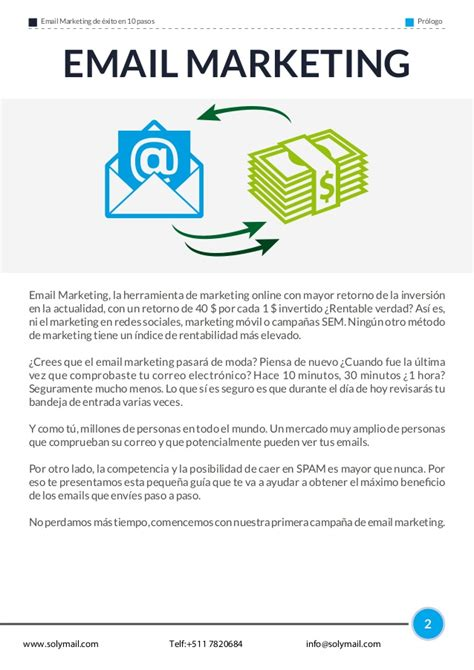 Email Marketing 2 by Email Marketing De 233 Xito En 10 Pasos Solymail