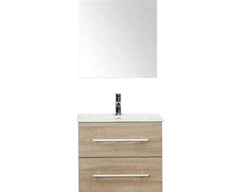 spiegel 60 x 40 badkamer badmeubelset stretto grijs eiken 60 x 40 cm inclusief