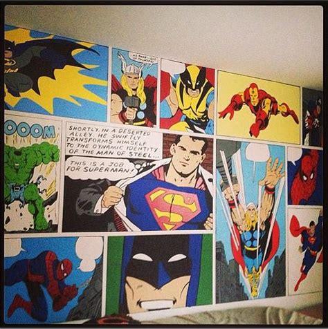 comic book bedroom superhero bedroom mural popsugar tech