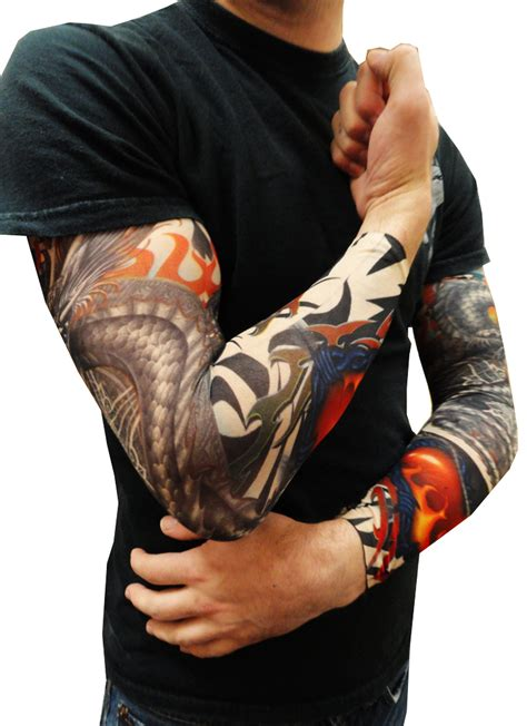 fake tribal tattoo sleeves sleeves tribal sleeves pair