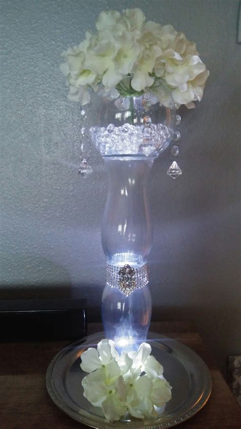 Diy Crystal Centerpiece with 3 Dollar Tree Vases   Events
