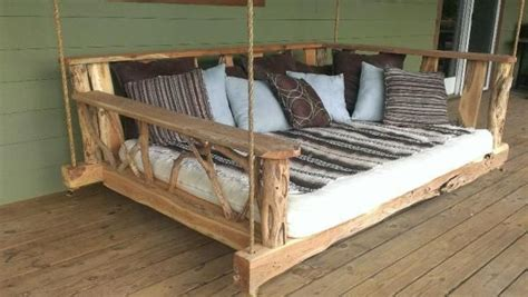 Cool Porch Swing Bed Wood Pinterest