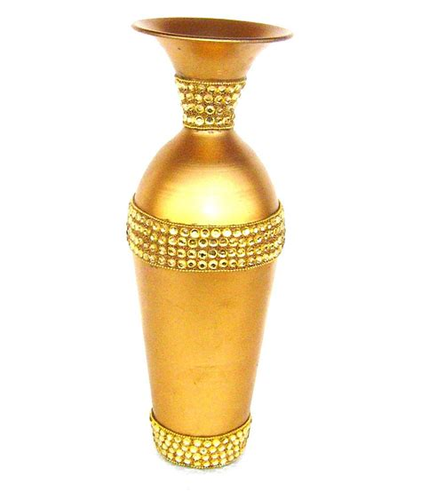 Golden Vase by Rastogi Handicrafts Metal Golden Flower Vase Buy Rastogi
