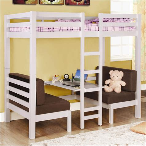 loft bed with desk underneath loft bed design