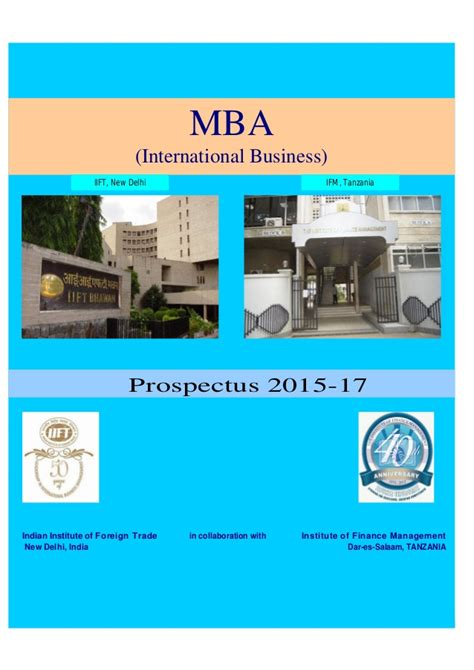 Mba In Import Export In India by Mba Ib 2015 17