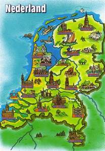 maps 10 postcard map from the netherlands