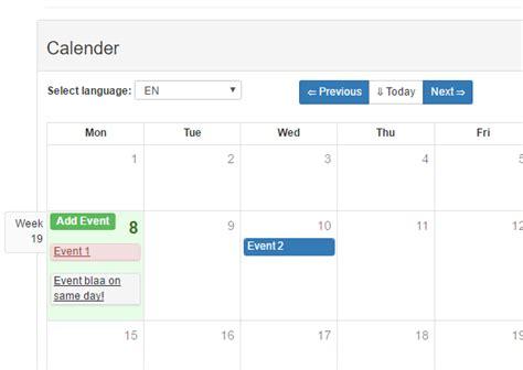 Bootstrap Calendar Template by Vue Bootstrap Calendar Component Vue Js Script