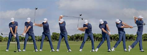 golf swing sequence swing sequence dustin johnson australian golf digest