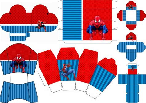 free printable spiderman birthday decorations spiderman party free printable boxes oh my fiesta for