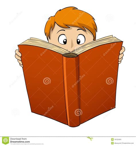 big book pictures boy reading big book stock vector image 18122404