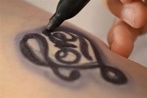 tattoo making pen how to make a fake tattoo with a sharpie with pictures