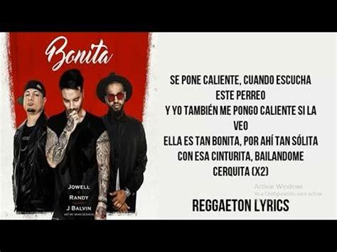 j balvin bonita lyrics bonita j balvin ft jowell randy letra audio