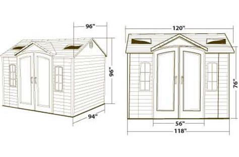 Lifetime 10x8 Garden Shed by Lifetime 10x8 Plastic Garden Shed 60001 W Doors Ebay