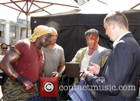film jason statham wesley snipes wesley snipes on set of the film expendables 3 2